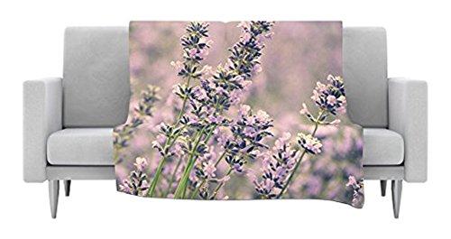 40 x 30 Kess InHouse Robin Dickinson Smell The Flowers Lavender Green Fleece Throw Blanket