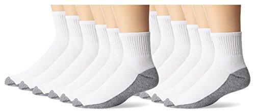 dickies-mens-stain-resister-quarter-socks-white-12-pair