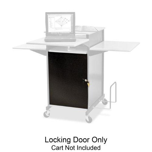 Balt Locking Door with Presentation Cart, 18-Inch by 1/2-Inch by 39-Inch, Black