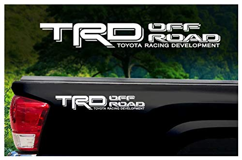 (Toyota TRD Truck Off Road 4x4 Toyota Racing Tacoma Decal Vinyl Sticker (WHITE 010))