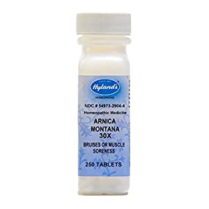 Hyland's Arnica Montana 30X Tablets, Natural Homeopathic Relief of Bruises and Muscle Soreness, 250 Count