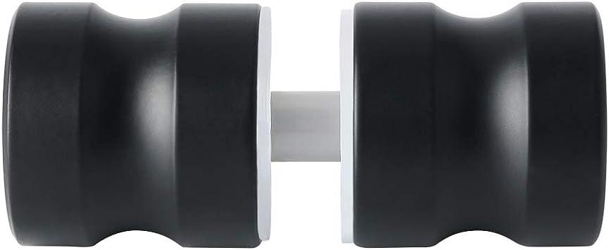 Sayayo Mampara de ducha maciza Perilla de puerta de puerta trasera con manija redonda, acero inoxidable negro, EL5000-B: Amazon.es: Bricolaje y herramientas