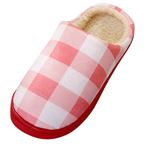 - TnaIolral Women Shoes Plaid Home Soft Slippers IndoorsAnti-Slip Bedroom