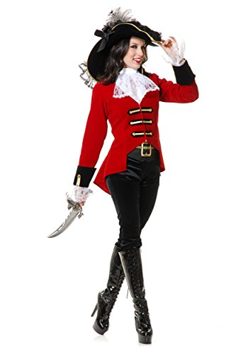 Page Boy Pirate Lady X-Small (Captain Hook Adult Costume)
