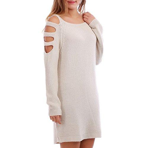 La Modeuse - Vestido - para mujer Beige