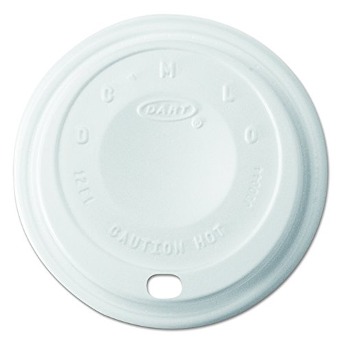 (Dart 12EL Cappuccino Dome Sipper Lids, 12 oz, White (Case of 1000))