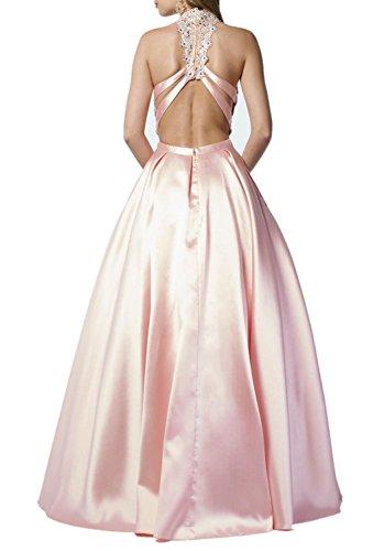 mit Weiss Spitze Linie Prinzess Abschlussballkleider Rosa Charmant Lang Abiballkleider Promkleider A Damen Fuchsia Cqx8z