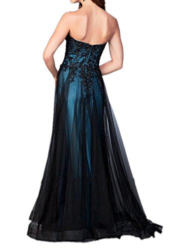 Milano Bride Fuchsia Spitze Traegerlos Abendkleider Partykleider Promkleider Bodenlang A-linie Rock Neuheit 2017 -42-Fuchsia
