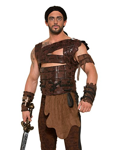 Forum Novelties Faux Leather Armor and Belt Costume Accessory - Standard - Chest Size up to 42 -