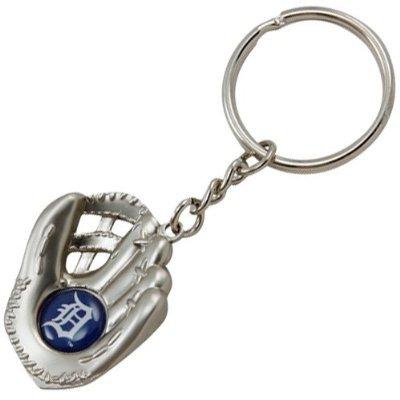 - aminco Detroit Tigers - MLB Silver Baseball Glove Keychain