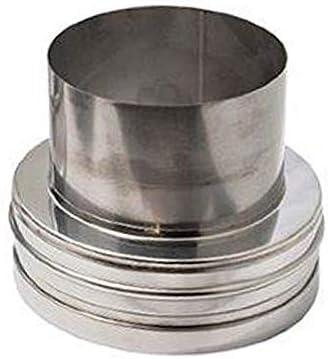 DW Complete L/ängenelement 1000mm 180mm Durchmesser 25mm D/ämmung Ofenrohr Rauchrohr Kaminrohr Doppelwandig Edelstahlschornstein Isoliert ged/ämmt