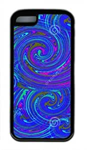 Abstract Design of Vortex DIY Rubber Black iphone 5C Case Perfect By Custom Service