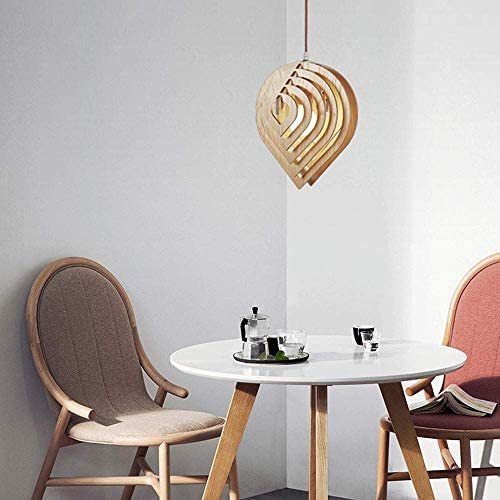 Solid Wood Water Droplets Chandelier, E27, Led Light Source, Simple Creative Chandelier, 2500K Neutral Ceiling Light, Cafe, Bar, Dining Room Light, C-L