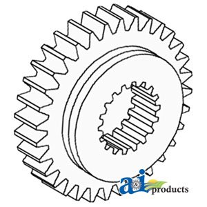 Massey Ferguson Tractor 4th Transmission Pinion Gear Part No: A-1868010M1