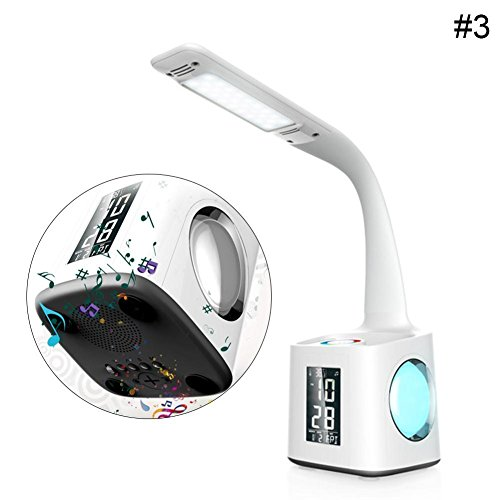 Shell Spectrum Dc Soft (RoseSummer Student Study Reading Light Led Desk Lamp With USB Charging Port&Pen&Holder&Calendar&Temperature&Alarm Clock And LCD Screen (Bluetooth))