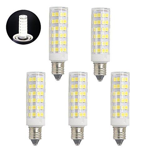 Light Mini Pendant 60w Fan (6W Mini Dimmable E11 LED Light Bulb, 60W or 75W Equivalent halogen bulb Repalcement 450 Lumens, Mini Candelabra E11 Base,110-130V, Daylight 6000K , T4 /T3 JD Type Clear E11 light bulbs(Pack of 5))