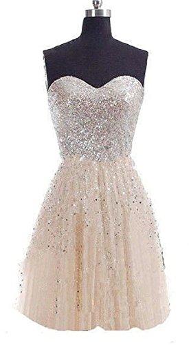 Damen Trendy champagnerfarben Kleid C mehrfarbig Bandeau mehrfarbig X 38 wzaEqSx5Z