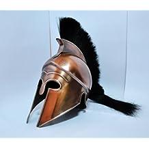Medieval Greek Corinthian Spartan Armour Helmet brass Antique w/Plume Halloween Handcrafted Greek Corinthian Helmet Wearable Armor in Steel