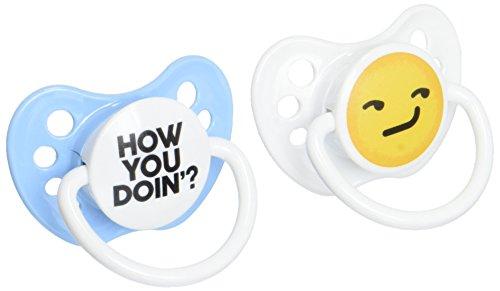 Ulubulu Boy Pacifier, How You Doin Emoji, 6-18 Months