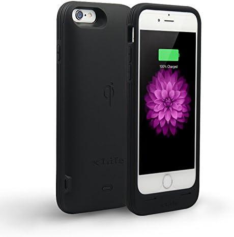 iPhone 6/6s Coque batterie par Xlife – chargeur portable pour iPhone 6/6s (11,9 cm) [batterie de récepteur de charge sans fil Qi Intégré] [Changeable] ...