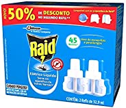 Repelente Elétrico Líquido Raid Refil Regular 2 unidades 32,9 ml cada