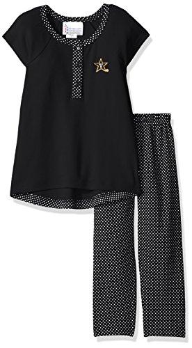 Ncaa Pins (NCAA Vanderbilt Commodores Children Girls Pin Dot Legging Set,3,Black)