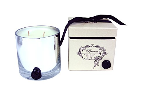 "R 16 Home CBR-4 Brunei Leather Candle, 4"" x 4"" x 4"""