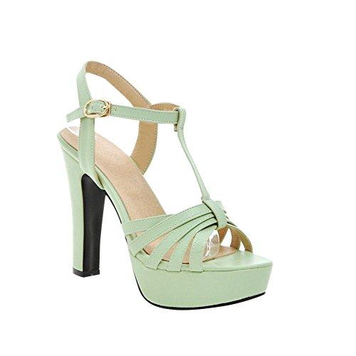 Mee Shoes Damen high heels Schnalle T-strap Sandalen Grün