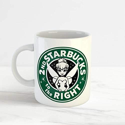Tinkerbell Tea - Disney Starbucks Mug, Tinkerbell 2nd Starbucks To The Right cup Tea coffee, 11oz, 15oz, mugs, funny mug, coffer mug