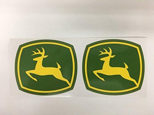 2 John Deere Badge Diecut Decals by SBD Decals (3 Inch)