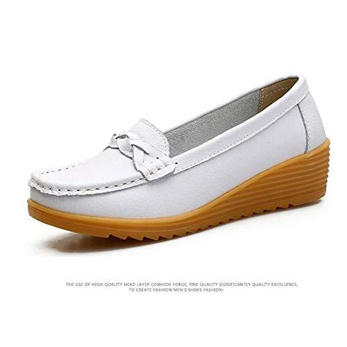 Con Calzado Gruesa Madre Kurphy Planos Para Ultraligeros Transpirable La Zapatos Flecos Antideslizante Cordones Sin Mujer Suela w0wUtSaqn