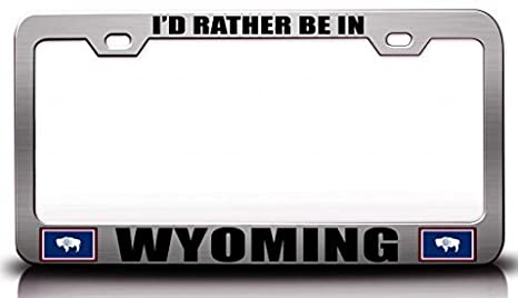 Wyoming State Flag Metal License Plate