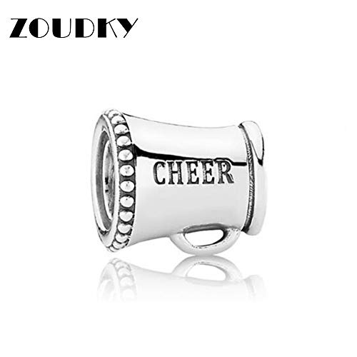 (Calvas 100% 925 Sterling Silver New 1:1 Mother's Day Charm Bead Loudspeaker for DIY Bracelet Original Fashion Jewelry Gift )