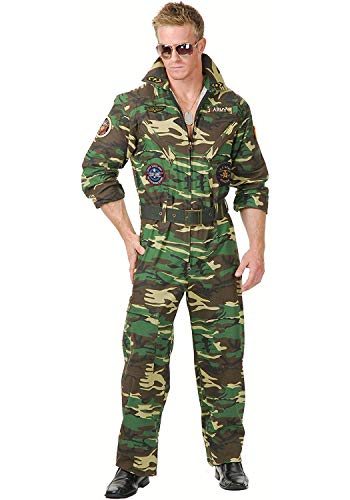 Flight Pilot Top Gun Camouflage Jumpsuit for Men - XS to 3XL