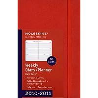 Moleskine Hard Pocket Weekly Horizontal Diary 18 Month 2010-2011