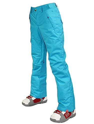 APTRO Women's Ski Snowboard Pants Waterproof Warm Winter Lined Pants Blue M