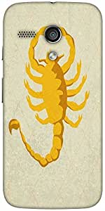 Snoogg Scorpion Yellow 2785 Designer Protective Back Case Cover For Moto-G