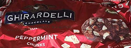 Ghirardelli Peppermint Baking Chunks 10oz Bag (Pack of 6) (Baking Chips Ghirardelli)