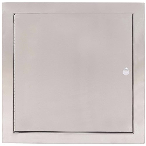 Bradley 9813-000000 18 Gauge Satin Stainless Steel Specimen Pass-Thru Cabinet with Exposed Surfaces, 13-3/8″ Width x 12-5/8″ Height x 6″ Depth