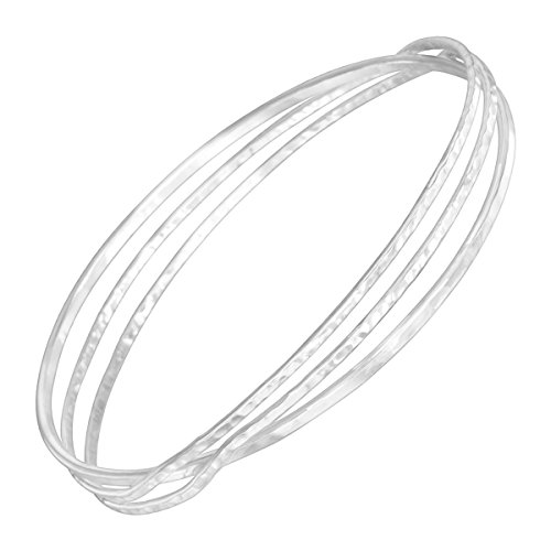 Silpada 'Interlace' Cut-Out Bangle Bracelet in Sterling Silver, 6.75