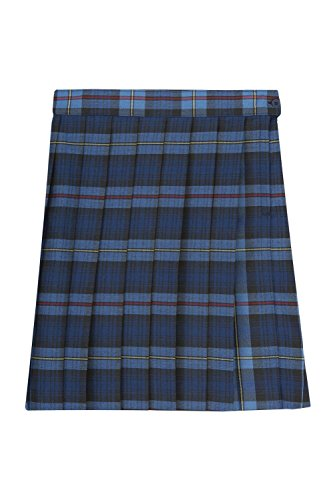 Pleated Plaid Red Skirt (French Toast Big Girls' Plaid Pleated Skirt, Blue/Red, 12)