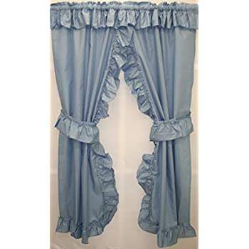 Amazon Com Stephanie Country Ruffle Priscilla Curtains