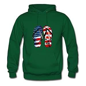 Women Peace Customized O-neck Cotton Green Hoodies X-large