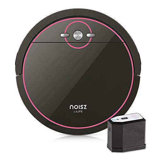 Noisz by ILIFE S5 Robot Vacuum Cleaner with MAX Mode, Tangle-Free Suction Port, Virtual Barrier, Slim & Quiet, Programmable, Ideal for Hardwood, Tile, Laminate and Stone