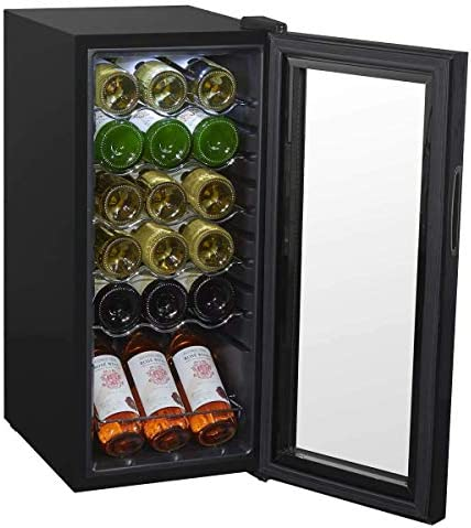 Baridi 18 Bottle Wine Cooler, Fridge, Touch Screen, LED, Low Energy A, Black