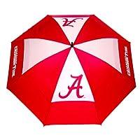 """Equipo de golf NCAA Alabama Crimson Tide 62 """"paraguas de golf con funda protectora, diseño de protección contra el viento con dosel doble, botón de apertura automática"""
