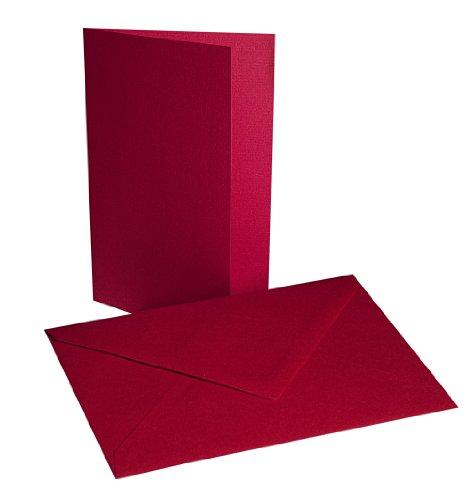 Faltkarten mit Umschlägen B6 - Rot