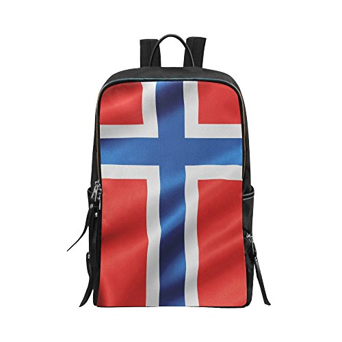 - InterestPrint Waving Norway Flag Unisex School Bag Outdoor Casual Shoulders Backpack Travel Daypacks for Women Men Kids