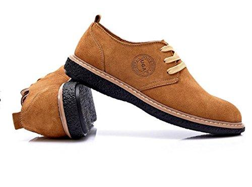 Neue Mode Herrenschuhe Loafers High Top Sneakers Laessige Wildleder Schuhe Leicht gebraeunt