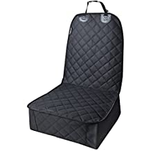 URPOWER Pet Front Seat Cover for Cars,WaterProof & Nonslip Rubber Backing with Anchors, Quilted, Padded, Durable Pet Seat Covers for Cars, Trucks & SUVs